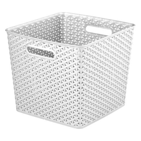 y weave extra large storage bin set of 4 room target. Black Bedroom Furniture Sets. Home Design Ideas