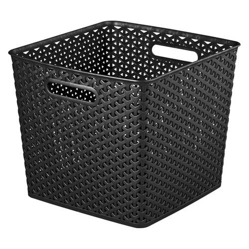 y weave extra large storage bin set of 4 room essentials ebay. Black Bedroom Furniture Sets. Home Design Ideas