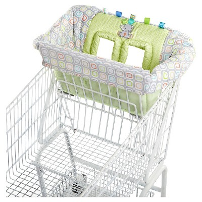 Taggies Tag 'N Go Shopping Cart Cover - White/Green