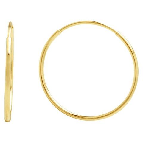 10k Yellow Gold Endless Hoop Earrings - Gold
