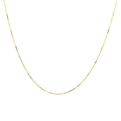 10k Yellow Gold Snake Necklace