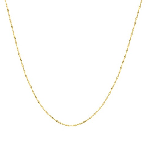 10k Yellow Gold Singapore Necklace