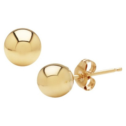 10k Yellow Gold 5mm Stud Earrings