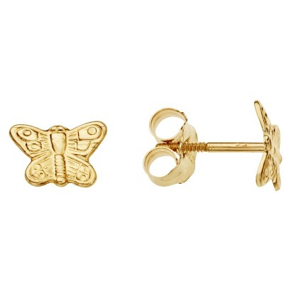 14k Gold Children's Butterfly Earrings
