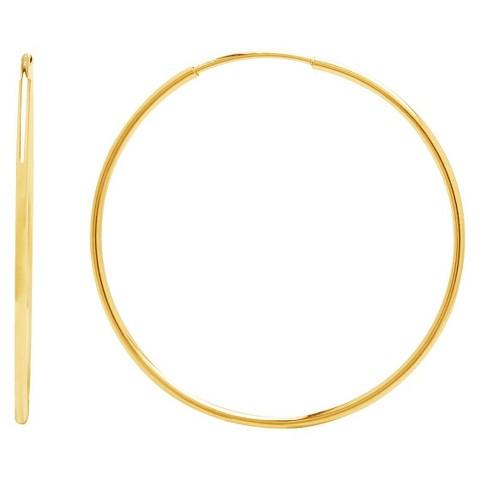 10k Yellow Gold Endless Hoop Earrings
