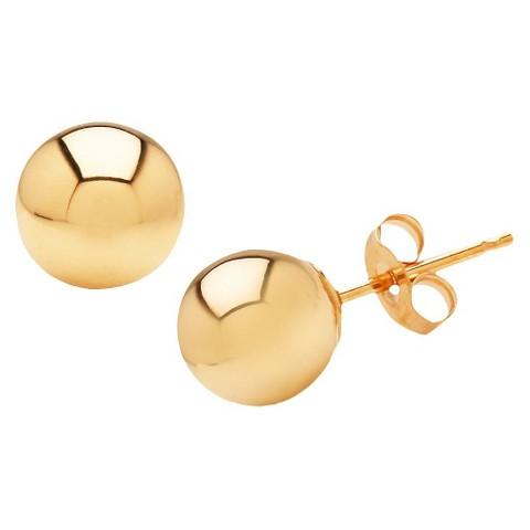 10k Yellow Gold 6mm Stud Earrings