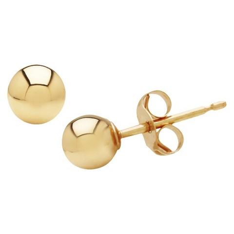 10k Yellow Gold 4mm Stud Earrings