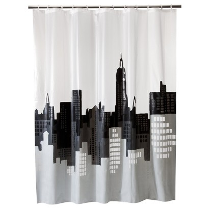 ROOM ESSENTIALS™ CITY SCAPE SHOWER CURTAIN