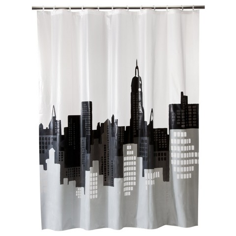 room essentials city scape shower curtain product details page