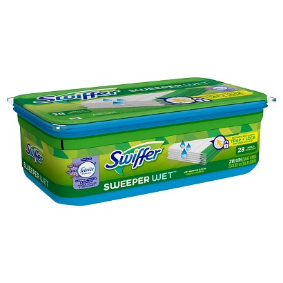 Swiffer Sweeper Febreze Lavender Vanilla & Comfort Scent Wet Mopping Cloths Refill 28 ct