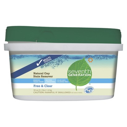 Seventh Generation Free & Clear Natural Oxy Stain Remover 50 oz