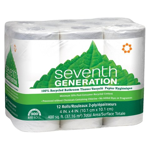 Seventh Generation™ Recycled Bathroom Tissue - 12 Rolls