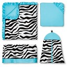 Turquoise Funky Zebra Collection