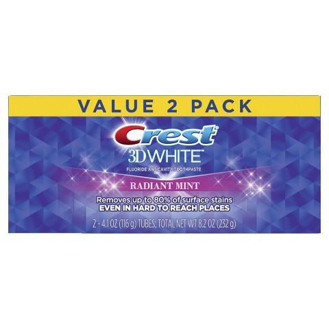 Crest 3D White Whitening Toothpaste - Radiant Mint 4.8 oz
