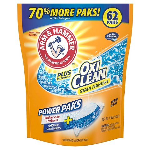 Arm & Hammer Crystal Burst Power Packs with OxiClean Stain Fighters 50 count