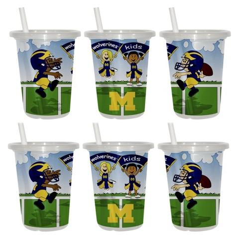 Michigan Wolverines 2pk Sip & Go 10oz