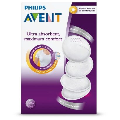 Philips Avent Disposable Day Breast Pads, 60-Count