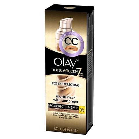 Olay Total Effects Tone Correcting Moisturizer - Medium/Deep, SPF 15 - 1.7 ounces