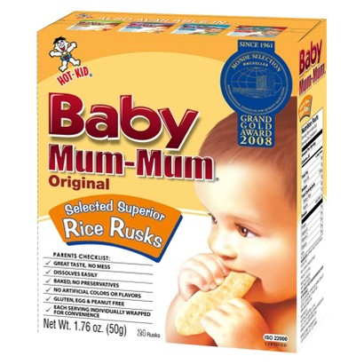 Hot Kid Baby Mum-Mum Organic Rice Rusks Original 24 ct