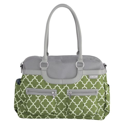 JJ Cole Canvas Satchel Bag - Green Arbor