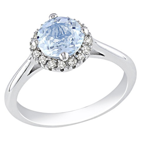 Diamond & Blue Topaz Ring - Blue