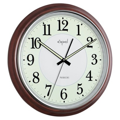 Opal Wooden Clock with Very High Luminous Dial