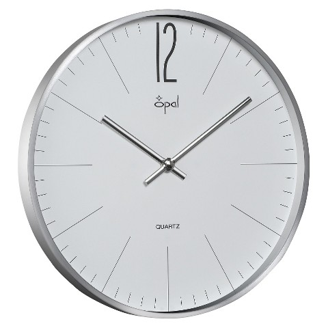 Opal Clock Aluminium Case with Mineral Front Glass
