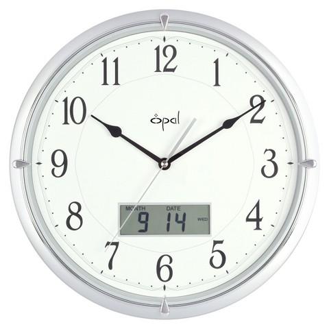 Opal Clock Ana-Digi Clock -Silver
