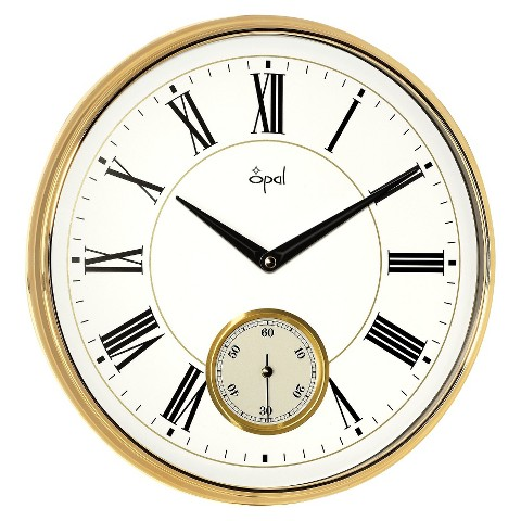Opal Clock Side Second Clock with Bold Figures and ABS Case