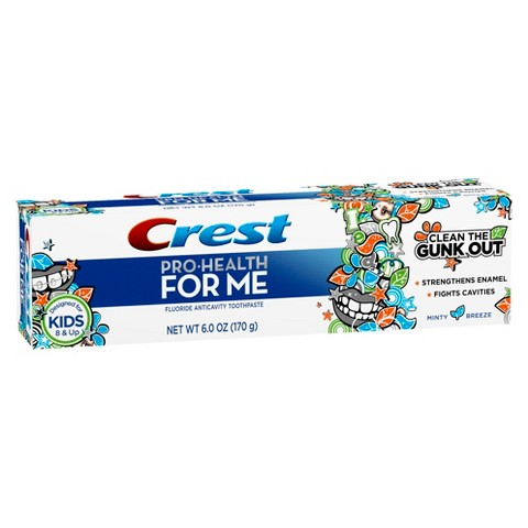 Crest Pro-Health For Me Anticavity Fluoride Minty Breeze Flavor Toothpaste - 6 oz