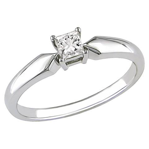 Diamond Solitaire Ring white