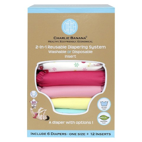 Charlie Banana Reusable Diaper Set One Size - Assorted Colors