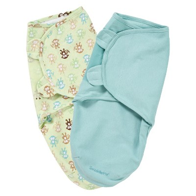 Summer Infant® SwaddleMe®-Monkey Fun 2-Pack (Small/Medium)