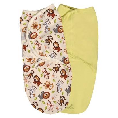 Summer Infant® SwaddleMe®-Monkey Toss 2-Pack (Small/Medium)