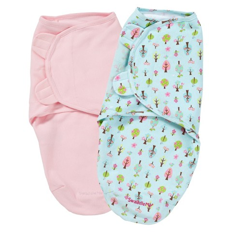 Summer Infant® SwaddleMe®-Sweet Trees 2-Pack (Small/Medium)