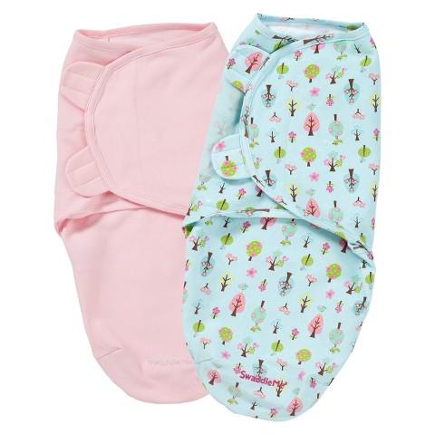Summer Infant® SwaddleMe®-Sweet Trees 2-Pack (Small/Medium)