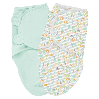 Summer Infant® SwaddleMe® Cotton 2-Pack in Alphabet Soup (Large)