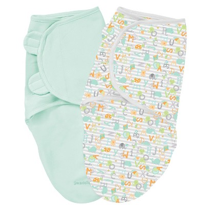 Summer Infant® Size Small/Medium  SwaddleMe® Cotton 2-Pack  in Alphabet Soup