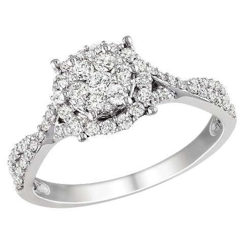 Diamond Fashion Ring White