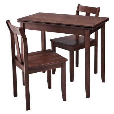 3 Piece Expandable Dining Set with Storage - Espresso - Threshold™