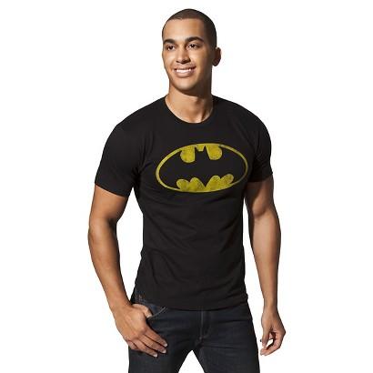 Men's Batman Shield Logo Graphic Tee - Black