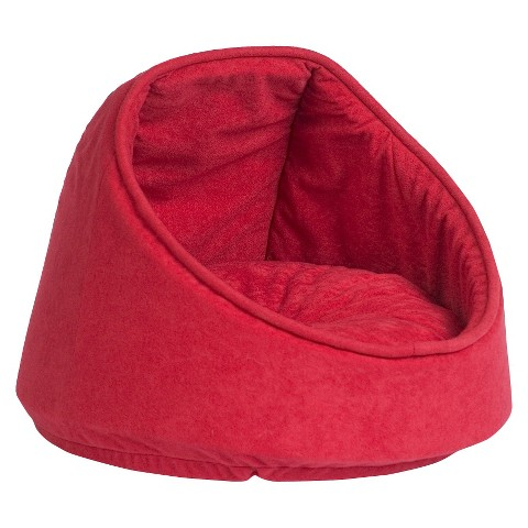 "Aspen Hooded Cat Bed - Chili Pepper (16"")"