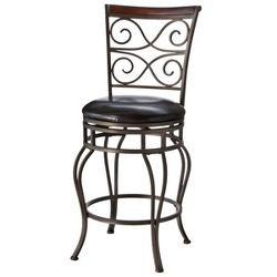 Drummond Swivel 26 Quot Counter Stool Metal Brown Hillsdale