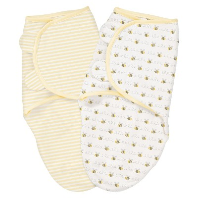 Summer Infant® SwaddleMe® Bee Lining 2-Pack (Small-Medium)