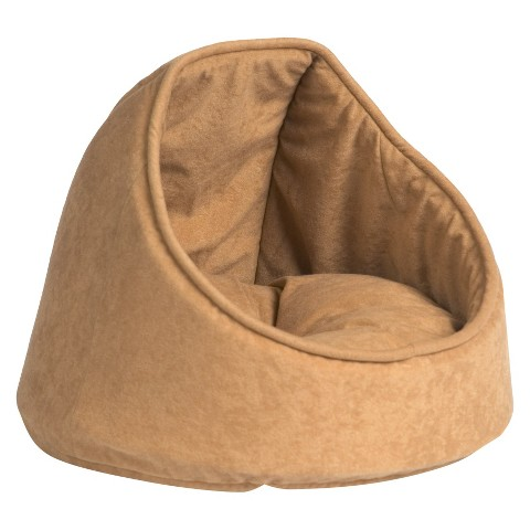 "Aspen Hooded Cat Bed - Camel (16"")"