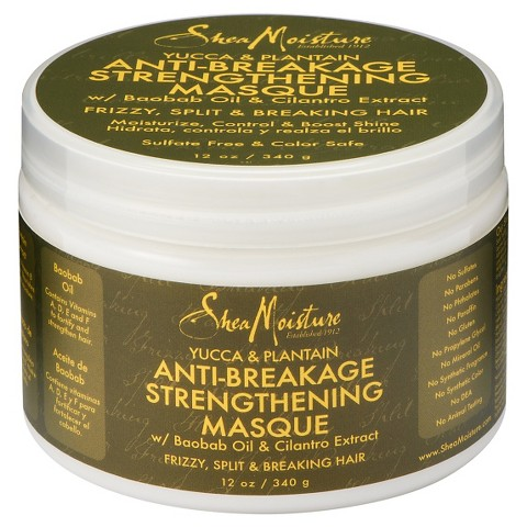 SheaMoisture Yucca & Plantain Anti-Breakage Strengthening Masque – 12 oz