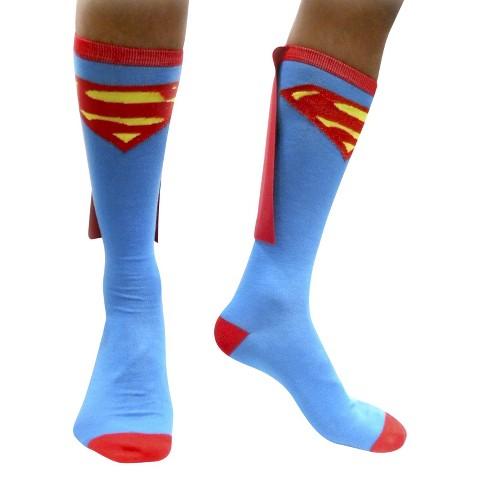 Superman Caped Socks - Blue