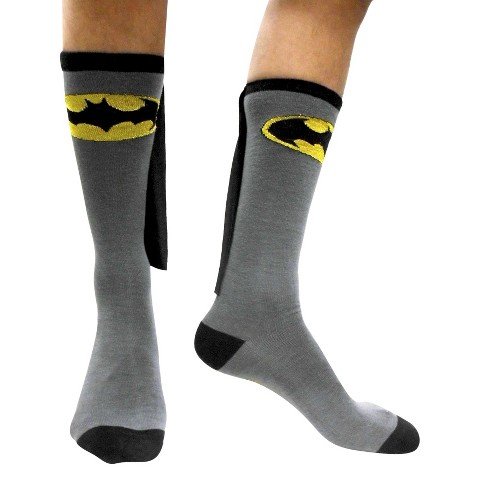 Batman Caped Socks - Black