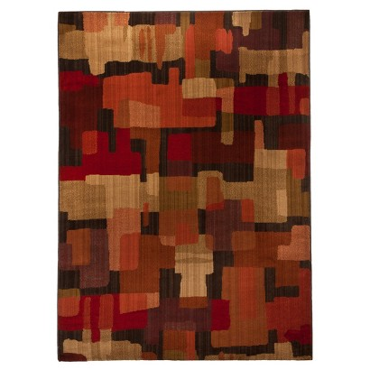 Mohawk Home Blocks Area Rug Red
