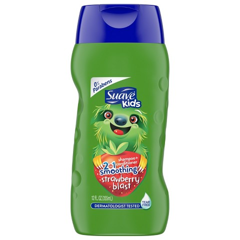 Suave Kids Strawberry Smoothers 2 in 1 Shampoo + Conditioner 12 oz